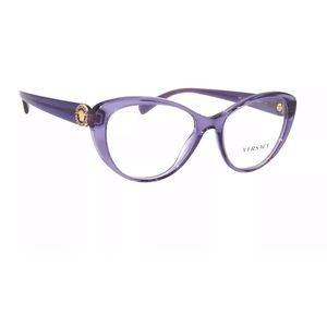 Versace purple eyeglasses with clear lens